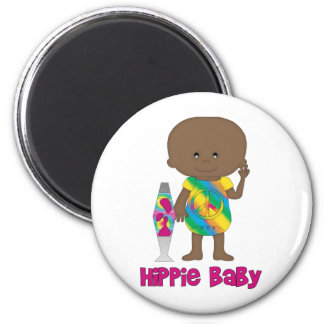 Hippie Baby African American Magnets