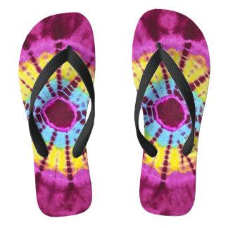 Hippie batik circle flip flops