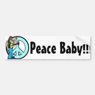 Hippie: Bebé de la paz Pegatina Para Auto