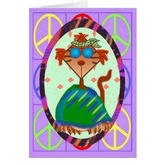 Hippie Belated Birthday Card