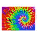 Hippie Birthday 60th Groovy Tie-Dye Card