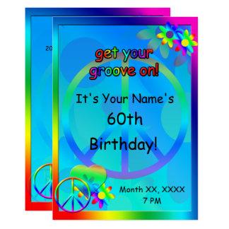 Hippie Birthday Custom Invitation