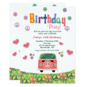 Hippie Birthday Party Invitation