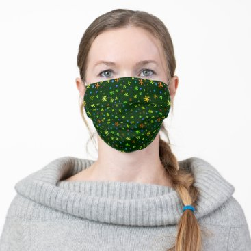 Hippie Blossom Design Cloth Face Mask