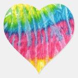Hippie Boho Tie-Dye Heart Stickers