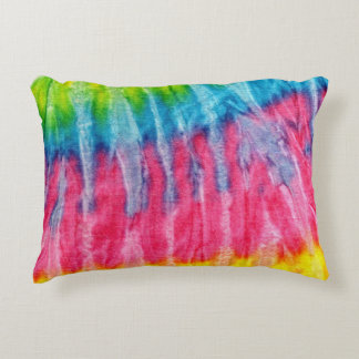 Hippie Boho Tie-Dye Accent Pillow