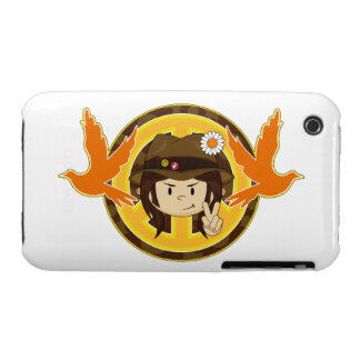 Hippie Boy & Doves iPhone 3 Cover