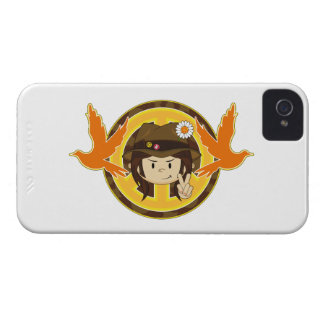 Hippie Boy & Doves iPhone 4 Cover
