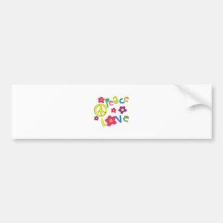 hippie car bumper sticker