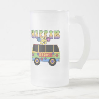 Hippie Bus Frosted Mug