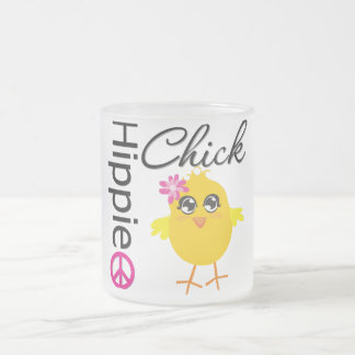 Hippie Chick 3 10 Oz Frosted Glass Coffee Mug