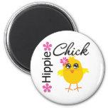 Hippie Chick 5 Refrigerator Magnet
