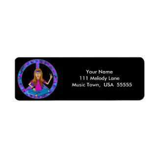 Hippie Chick Address Label