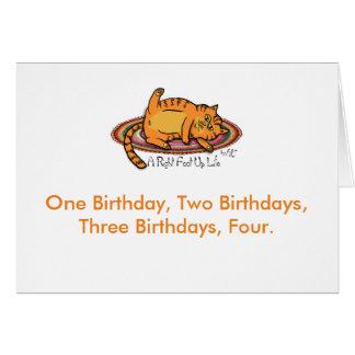 Hippie Chick Birthday Card