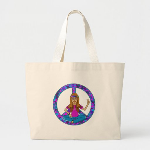 Hippie Chick Canvas Bag