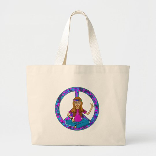 Hippie Chick Large Tote Bag