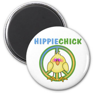 HIPPIE CHICK MAGNET