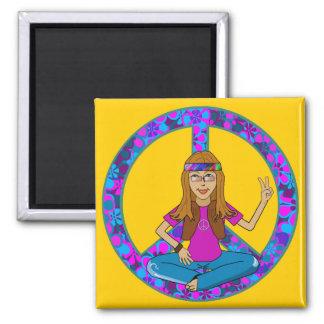 Hippie Chick Fridge Magnets