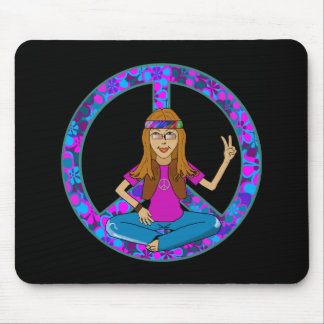 Hippie Chick Mouse Pads