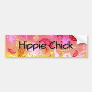 Hippie Chick Paisley Pattern Bumper Sticker Car Bumper Sticker