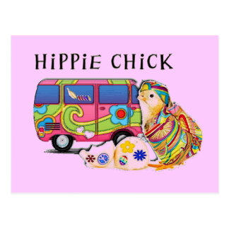 Hippie Chick Postcard