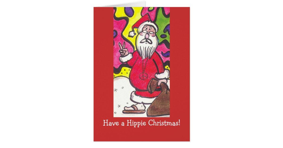 Hippie christmas card zazzle