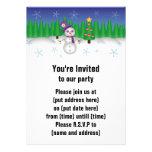 Hippie Christmas Snowman Invitations