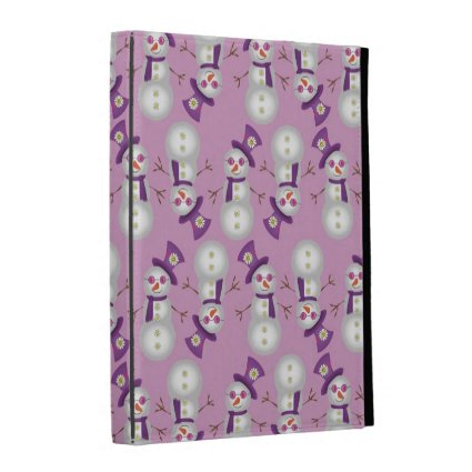 Hippie Christmas Snowman Pattern iPad Folio Covers
