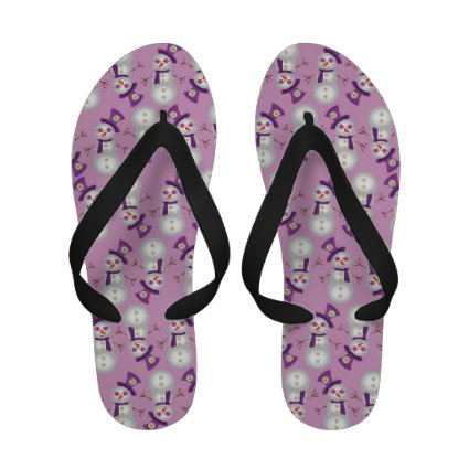 Hippie Christmas Snowman Pattern Sandals