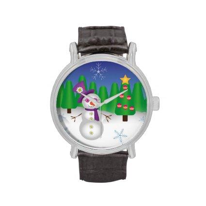 Hippie Christmas Snowman Watches