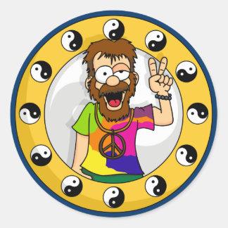 Hippie Classic Round Sticker