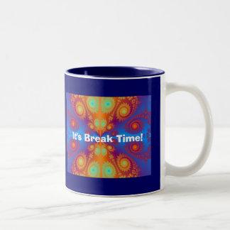 Hippie Coffe Cup  It's Break Time!,... Coffee Mug