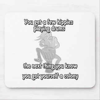 Hippie Colony Mouse Pad
