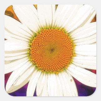 Hippie Daisy Square Sticker