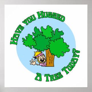 Hippie de Hugger del árbol Poster
