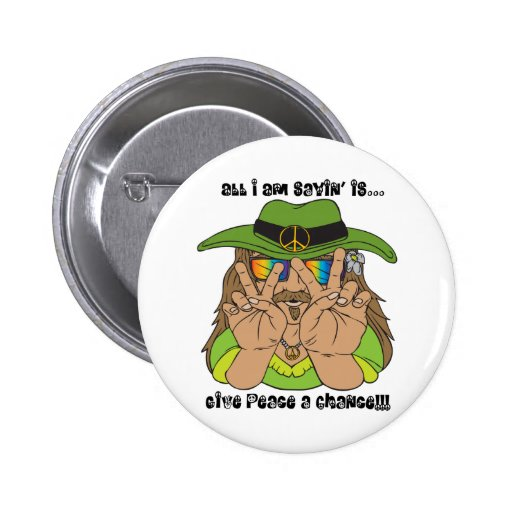 ¡Hippie de la paz! Pin