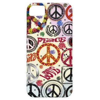 Hippie de la paz y del amor del flower power iPhone 5 carcasa