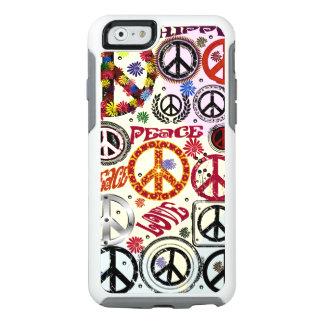 Hippie de la paz y del amor del flower power funda otterbox para iPhone 6/6s