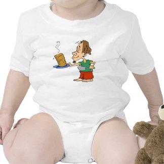 Hippie del desayuno de la crepe de la buena mañana traje de bebé