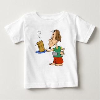 Hippie del desayuno de la crepe de la buena mañana playera de bebé