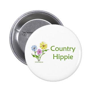 Hippie del país pins