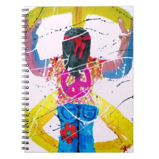 Hippie del signo de la paz notebook