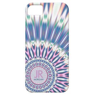 Hippie 'delica Funk Pink Blue Monogram iPhone 5 iPhone SE/5/5s Case