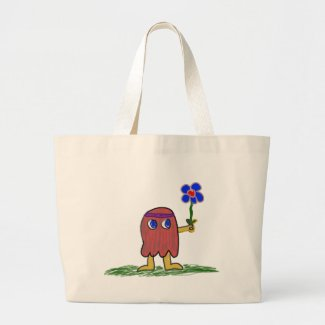 Hippie Dippy Flower Canvas Bags
