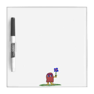 Hippie Dippy Flower Dry-Erase Whiteboard