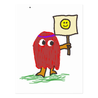 Hippie Dippy Smile Postcard