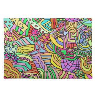 hippie doodle love placemat