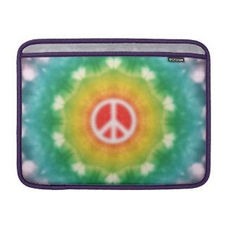 Hippie Dream Peace Sign Rainbow MacBook Sleeve