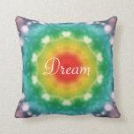 Hippie Dream Rainbow Typography Throw Pillow