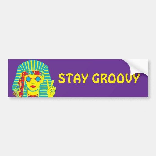Hippie egipcio etiqueta de parachoque